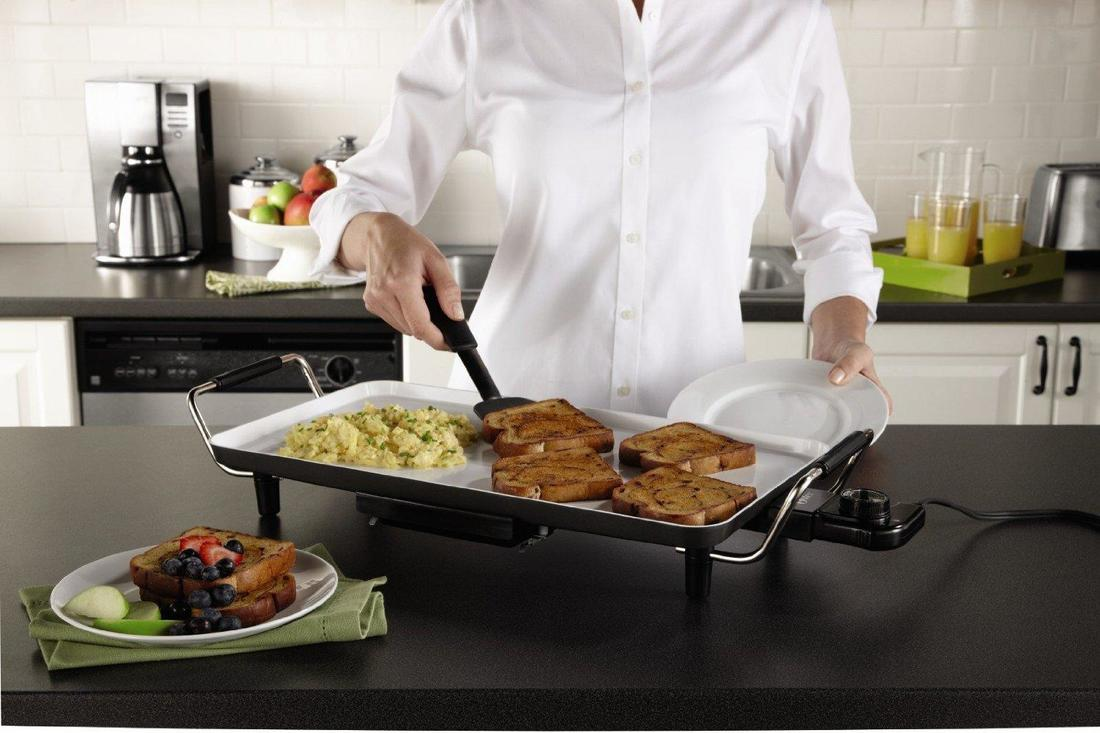cooking with electric griddle